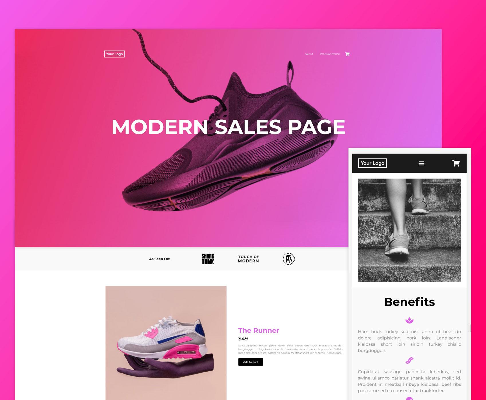 Neato Creative Sales Page Template